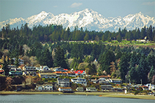 Olympic Mountains over Gig Harbor
