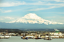 Mount Rainier from the Bay